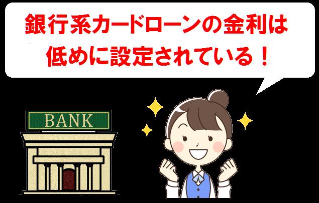 銀行系カードローン・金利
