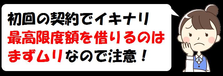 福岡銀行カードローンの初回限度額