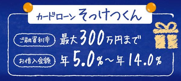 京葉銀行カードローン・そっけつくん
