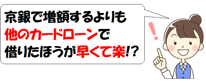京銀カードローンw・増額