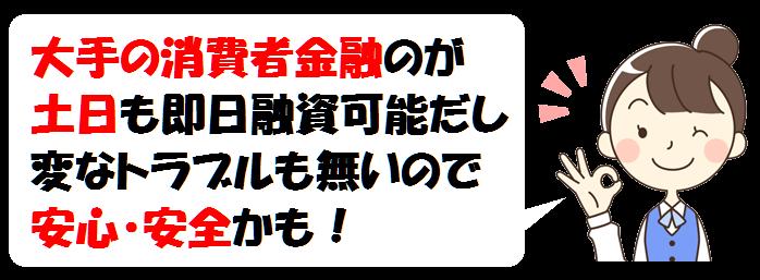 東京での大手消費者金融の即日融資