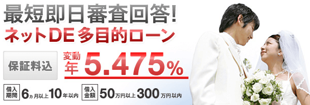 三菱東京UFJ銀行ブライダルローン