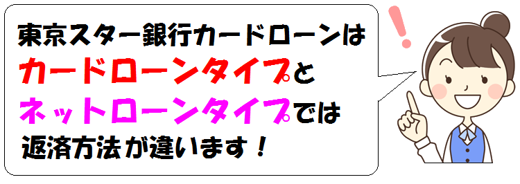 東京スター銀行カードローンの返済方法