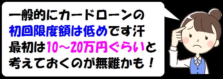 三井住友銀行カードローンの初回限度額